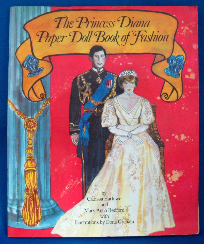 Royal Wedding Prince Charles Lady Diana Paper Dolls 1981