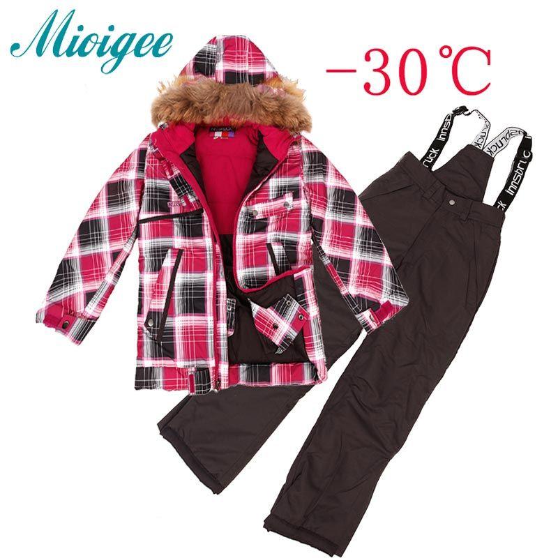 13c52c018 Boys Outerwear Warm Coat Sporty Ski Suit Kids Clothes Sets ...