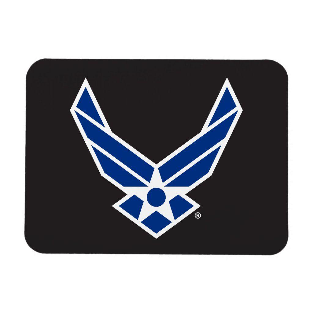 United States Air Force Logo Blue Magnet Zazzle Com In 2021 Air Force United States Air Force Air Force Basic Training