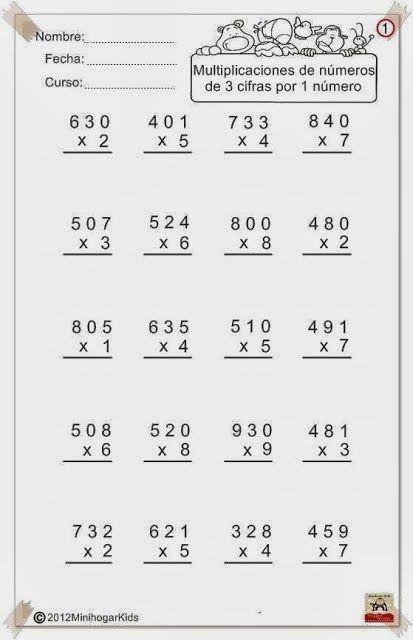 multiplicaciones+de+nºde+3cifrasx+1.jpg (413×640) | Matematik ...