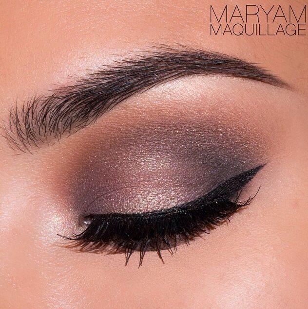 Brown/purple smokey eye motive cosmetics
