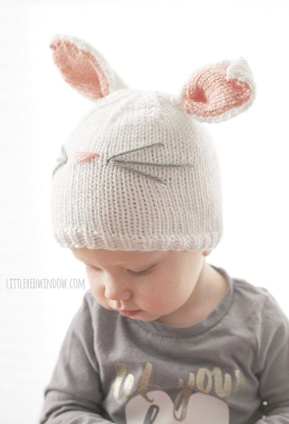 Baby Bunny Hat KNITTING PATTERN / Bunny Hat Pattern / Bunny Ears Hat ...