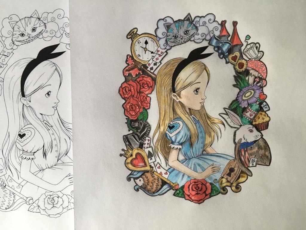 Afbeelding Alice In Wonderland Kleuren Kleuren Drawing Wonderland