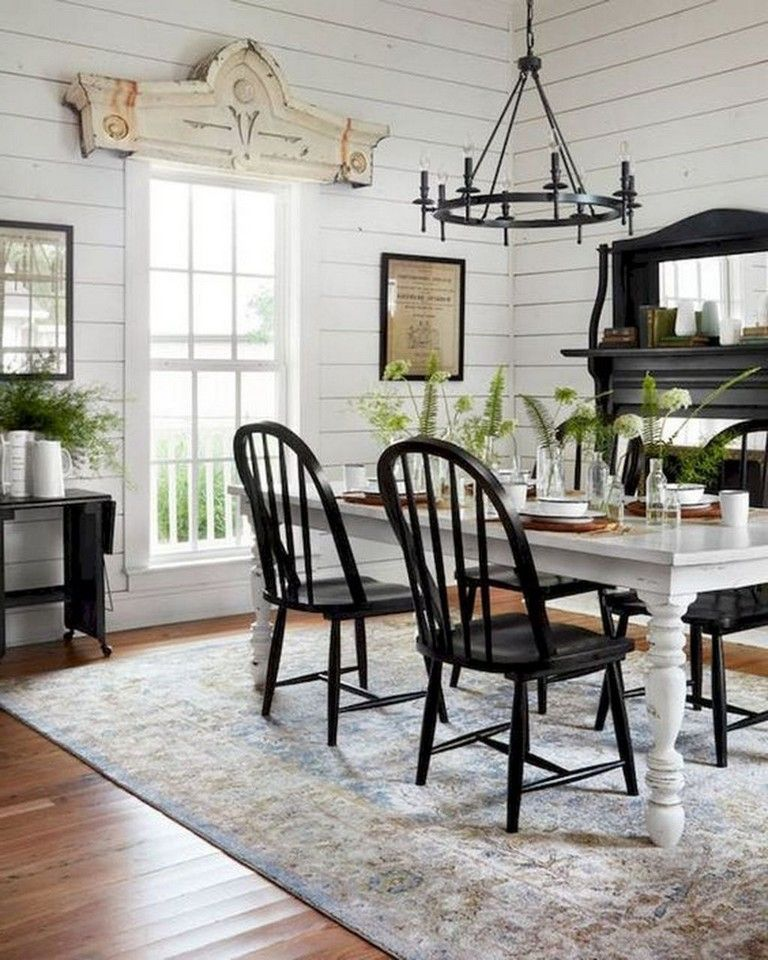 35+ Stunning Modern Farmhouse Dining Room Decorating Ideas ...