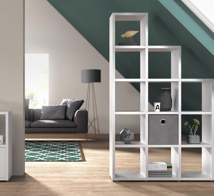 Raumteiler Regale – Ideen fürs Wohnzimmer und Arbeitszimmer – Stauraum ideen