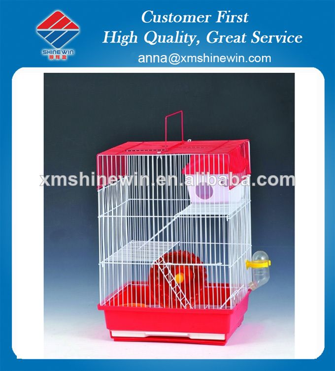 Hamster Cage Design In Good Quality Size 30x23x41cm Qty Ctn 12pcs Moq 600pcs Delivery Time 45 60 Days Hamster Cage Metal Birds Bird Cages