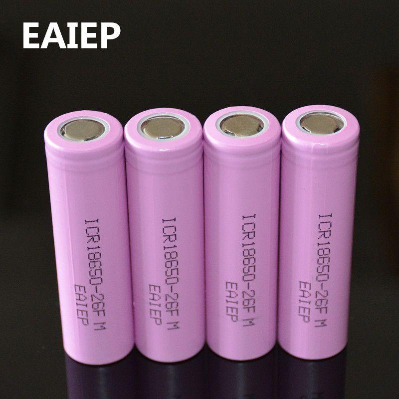 3 7v 2600mah Original 18650 Rechargeable Li Ion Battery Eaiep For Icr18650 26f Icr18650 26f 2600 Mah Batt In 2020 Rechargeable Batteries Li Ion Battery Lithium Battery