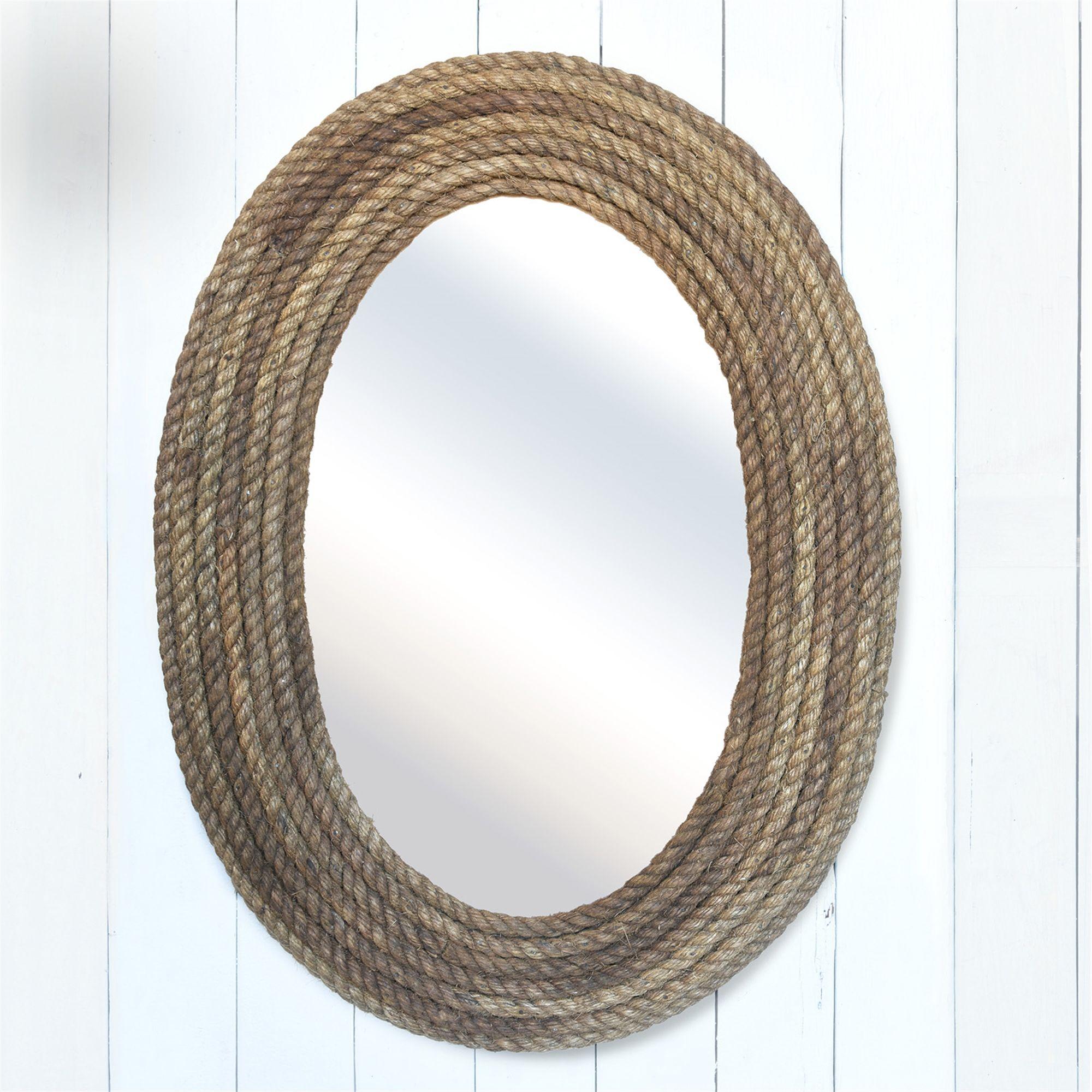 Bridgeport Oval Rope Mirror by HomArt Rope mirror