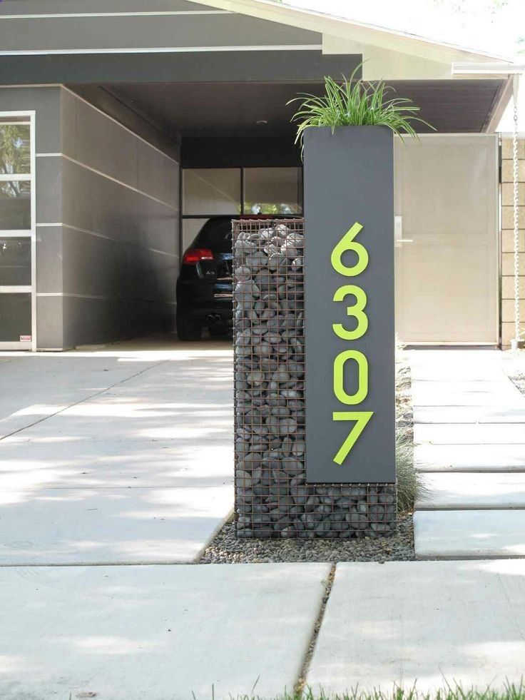 Custom gabion mailbox and house numbers in the phoenix for Gabions phoenix