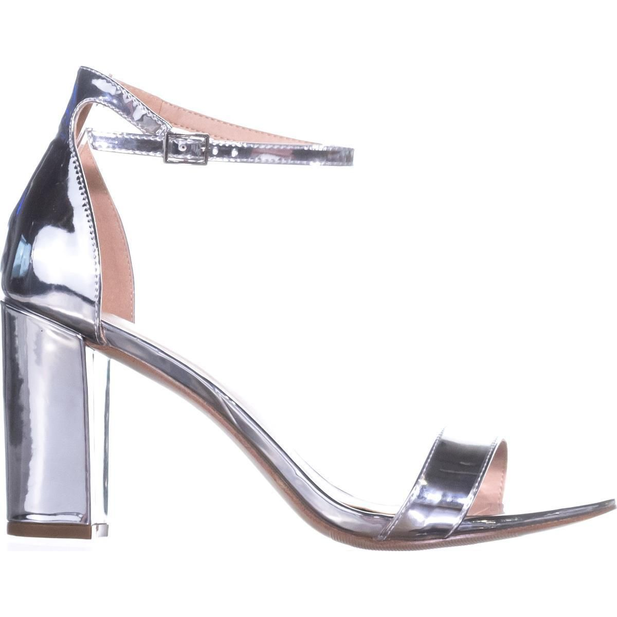 4a47215de13 madden girl Beella Ankle Strap Dress Sandals Silver Metallic 10 US   maddengirl  metallic  anklestrap  heels  sandals  silver  party  shoes   shopping ...
