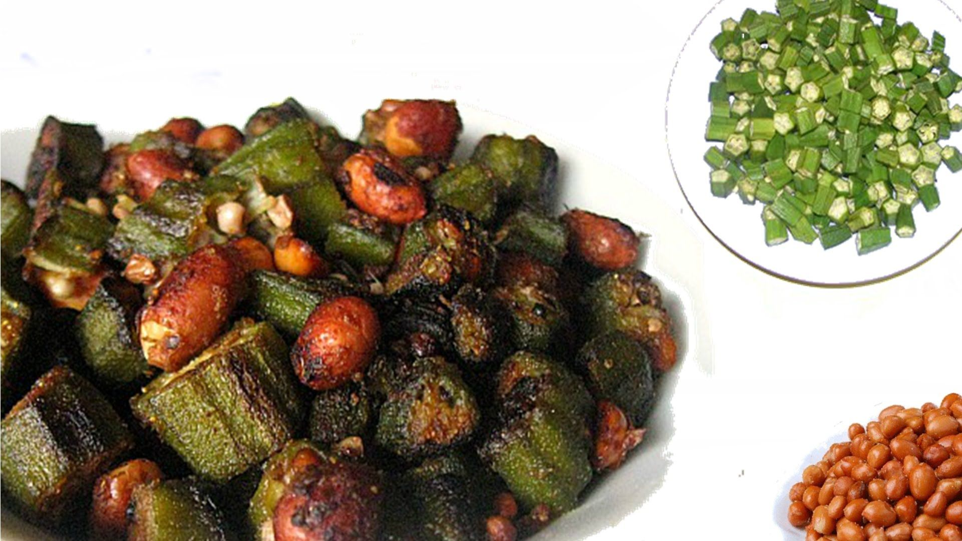 Okra and peanut stir fry Indian food recipes, Peanut