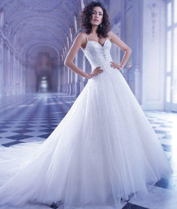 Beautiful Beaded Tulle Ballgown By Ilissa From Demetrios Minneapolis WeddingGown Bridal