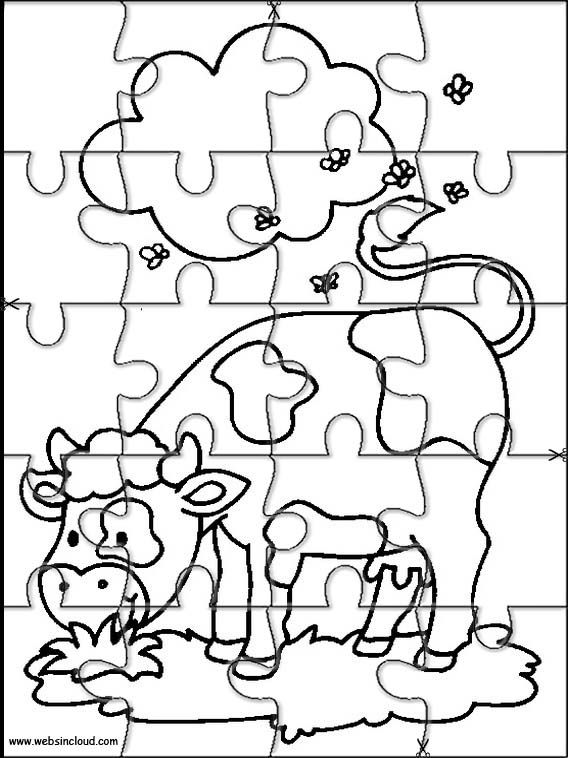 Printable jigsaw puzzles to cut out for kids Animals 12 Coloring ...