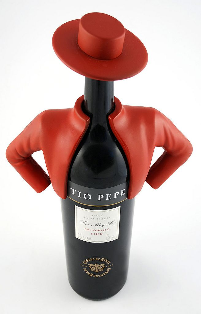 This is more than just a Fun Wine Label... this is Wine Packaging taken to a whole new level! Tio Pepe
