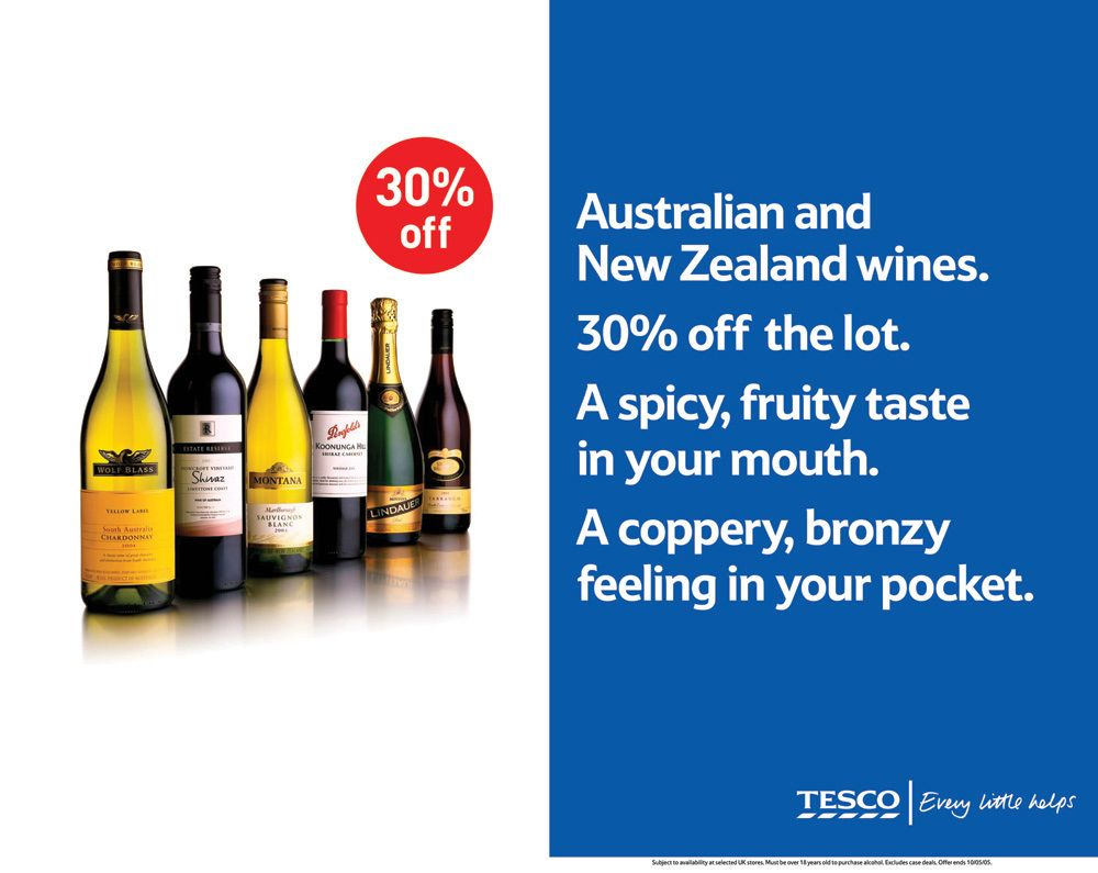 Tesco Advertising Copywriting Print Poster Design Tesco