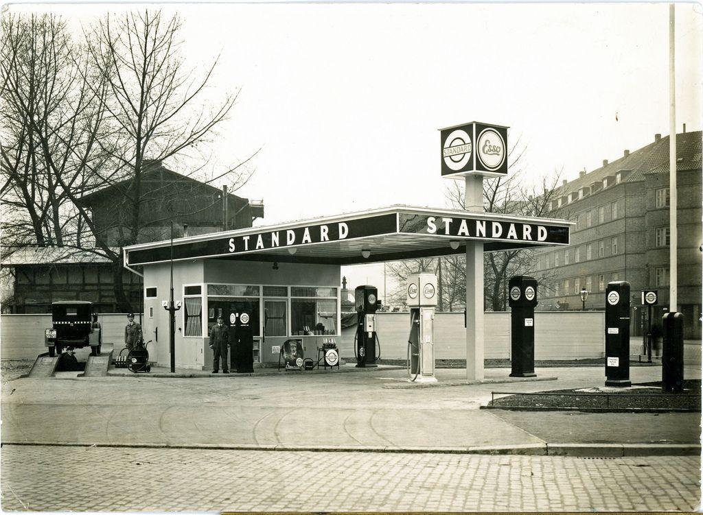 Tankstelle Kuchengarten Etwa 1931 A L T E S H A N N O V E R