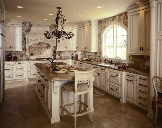wohnideen küche landhaus stil französisch creme beige, Modernes haus