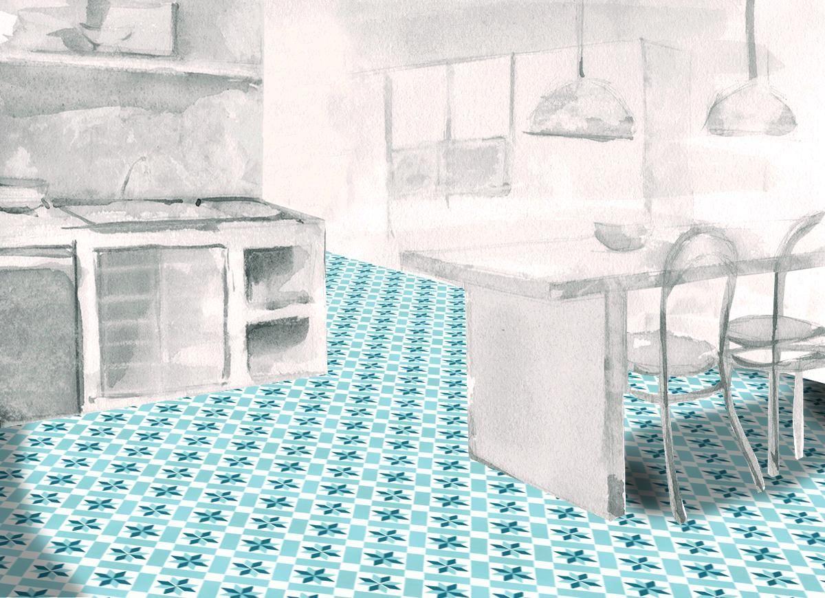 Mosaic Sur carreaux de ciment stock boutique mosaic sur