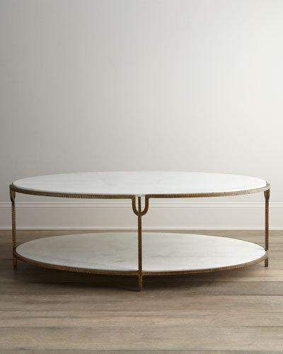 Olivia Couchtisch Global Views Olivia Marble-top Coffee Table ...