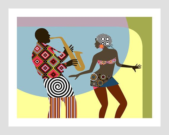 African American Wall Art African Painting African Decor