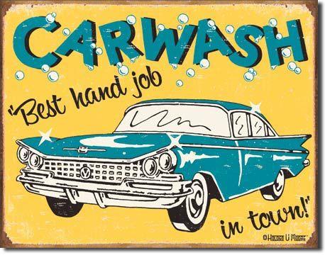pub garage Car wash advert Vintage Retro style Metal Sign man cave