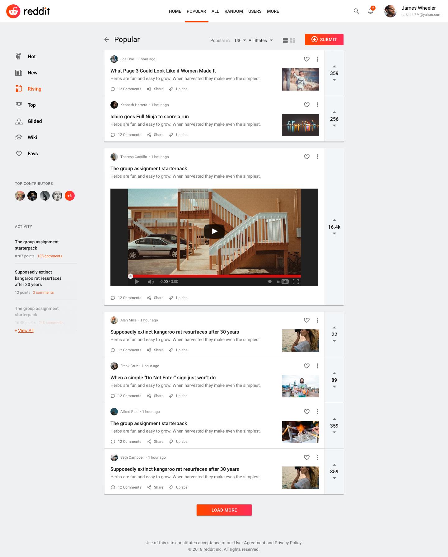 01 Reddit Card Expanded App Design Layout Web App Design Web Design