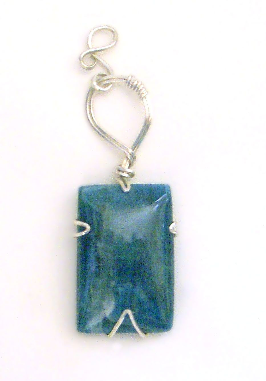 Wire wrapped pendant with bale - this is the stone apatite - 5 on ...