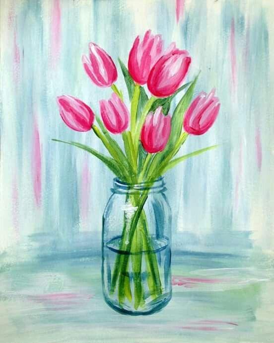 Tulips Tulip Painting Flower Painting Spring Painting