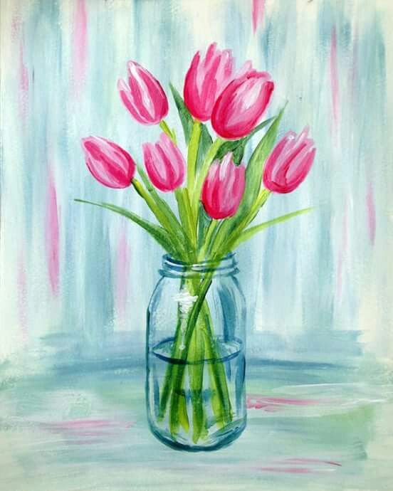 Tulips Tulip Painting Flower Painting Spring Painting
