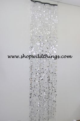 Coming Soon The Wave 8 Ft Curtain Silver Bubbles On Dancing