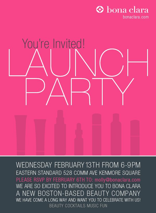 brand launch party bonaclara bostonevents partywithus invite, launch party invitation, launch party invitation examples, launch party invitation ideas