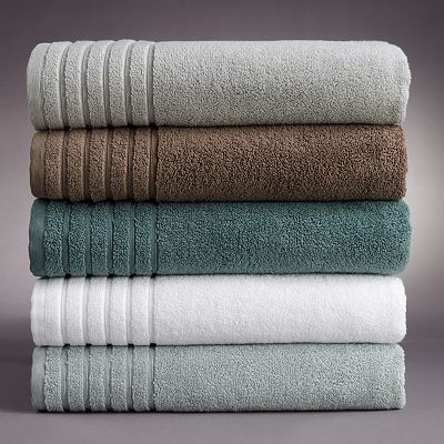 Our new bath towels the teal color walls are now painted - Bathroom color schemes brown and teal ...