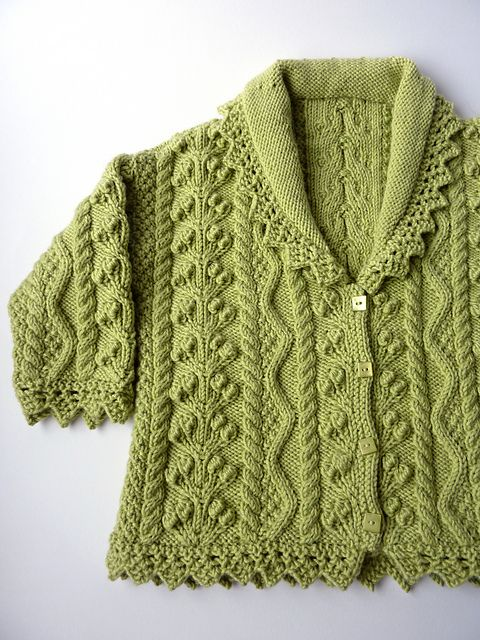 Lace Edged Cardigan pattern by Debbie Bliss | knits baby | Pinterest ...
