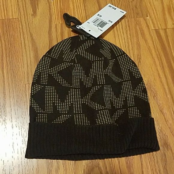 9f8a96662da77 Michael Kors Winter Hat- Women s Brand new with tags Color is dark brown  with tan MK logo print Originally  42 Michael Kors Accessories Hats