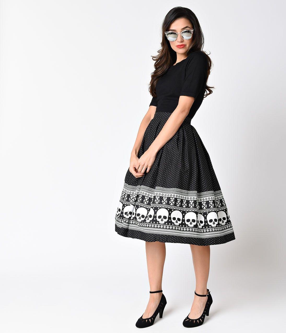 Hell Bunny Pokerface Pinafore Dress Black White Vintage Fashion
