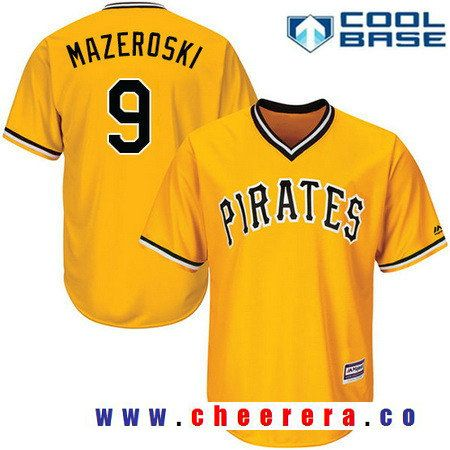 Men's Pittsburgh Pirates #9 Bill Mazeroski Camo Alternate Stitched MLB Majestic Cool Base Jersey