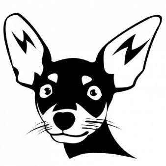 Chihuahua Cabeza De Perro Silueta Pet Store