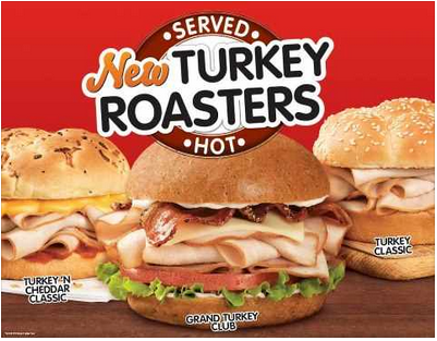 Free Turkey Roasters at Arby's today 9/6/12 11-1pm