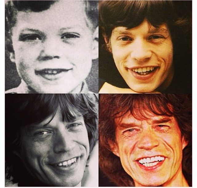 Mick Jagger's life in 4 pictures.