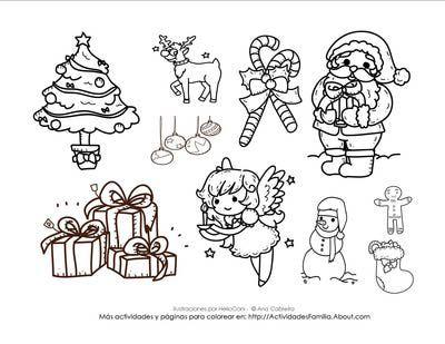 Dibujos de navidad para colorear | Clip art