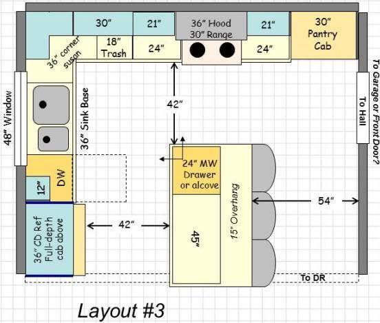 Twn85 S Kitchen 3 Kitchen Plans Kitchen Designs Layout Kitchen Layout Plans
