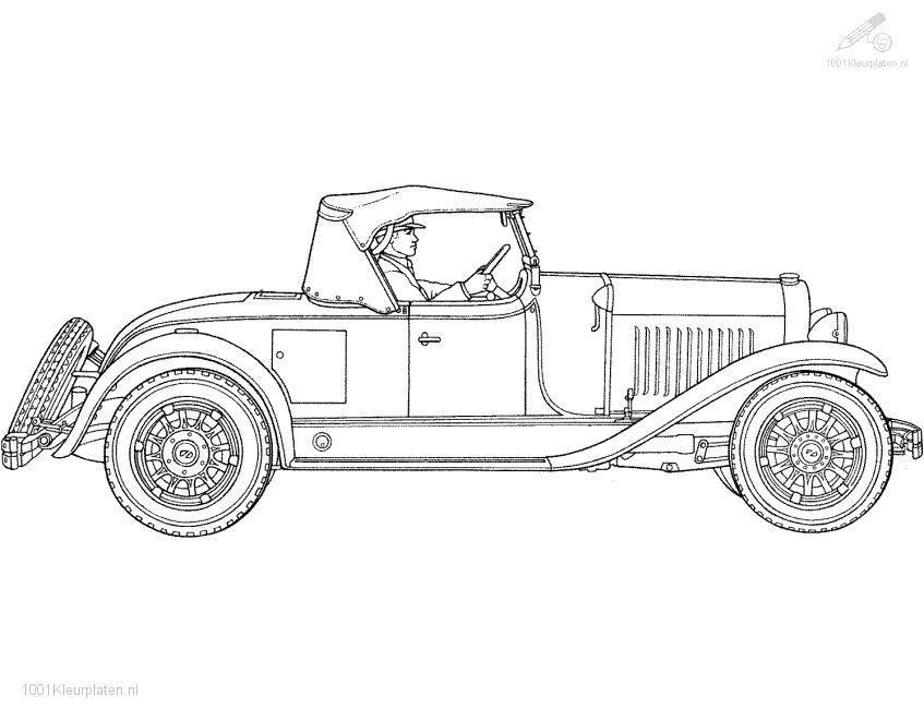 1001 coloringpages vehicle gt gt car gt gt oldtimer coloring