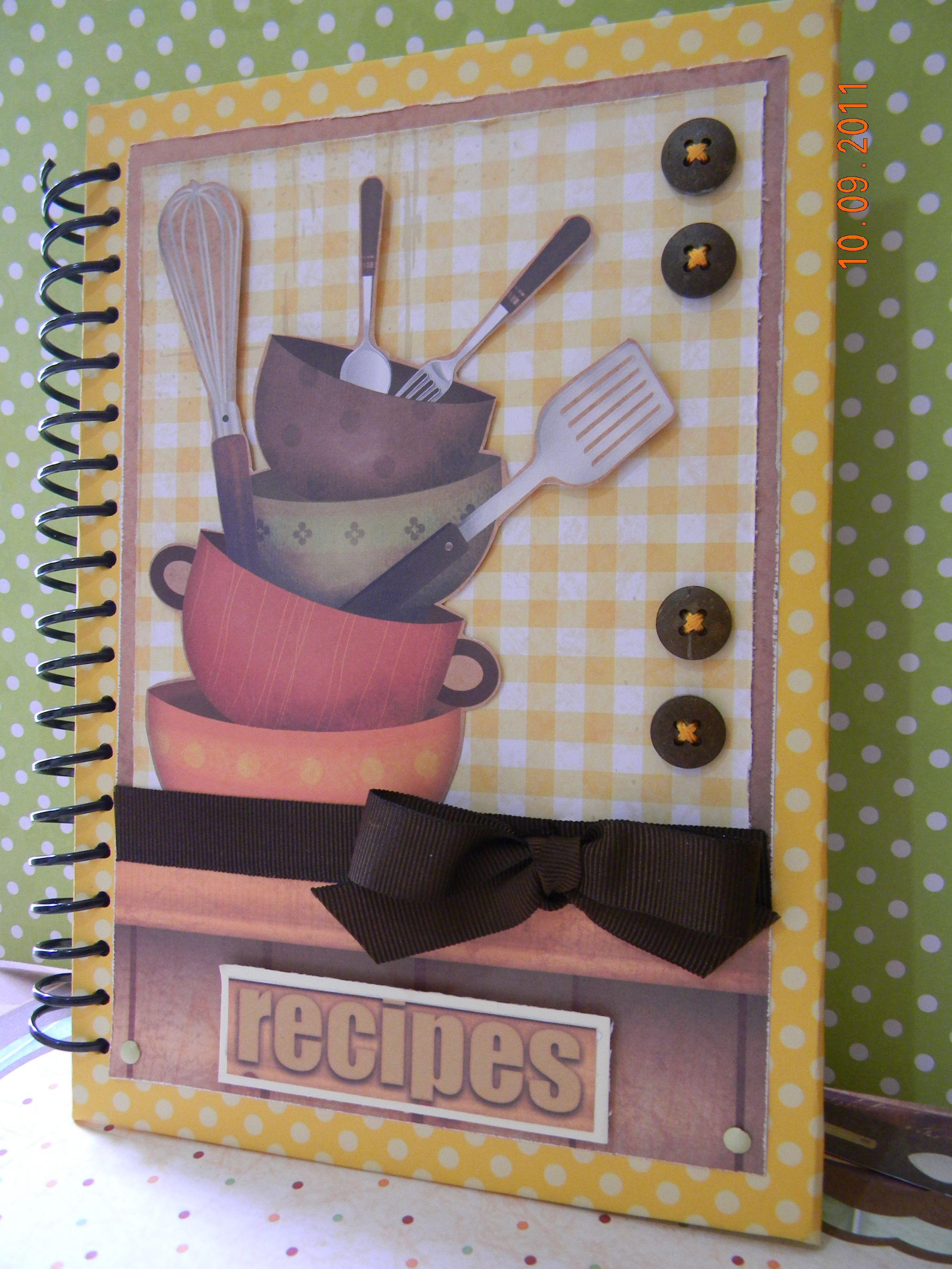 Scrapbook notebook ideas - Caderno De Receitas