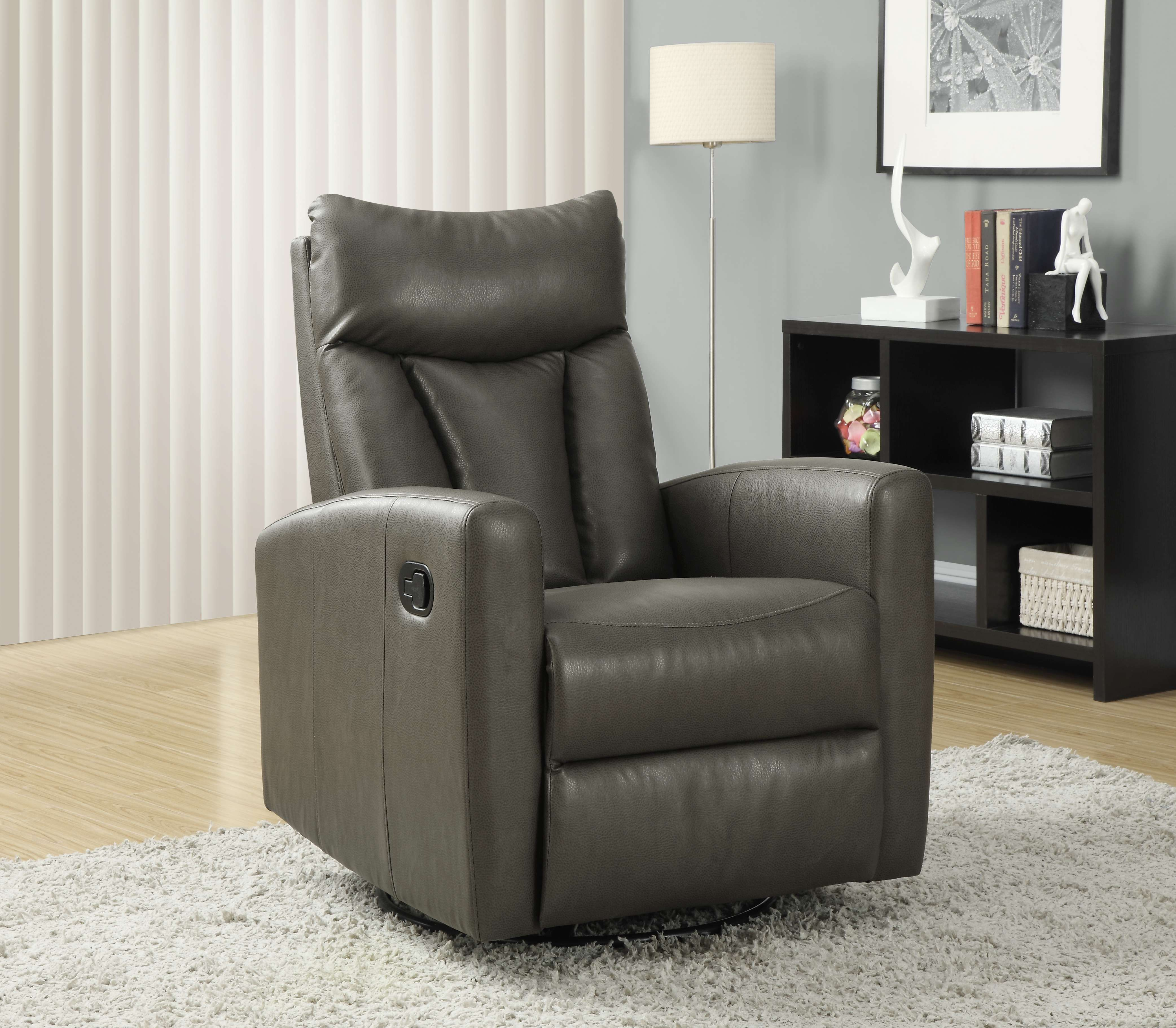Prime Lowest Price On Monarch Specialties Charcoal Gray Bonded Evergreenethics Interior Chair Design Evergreenethicsorg