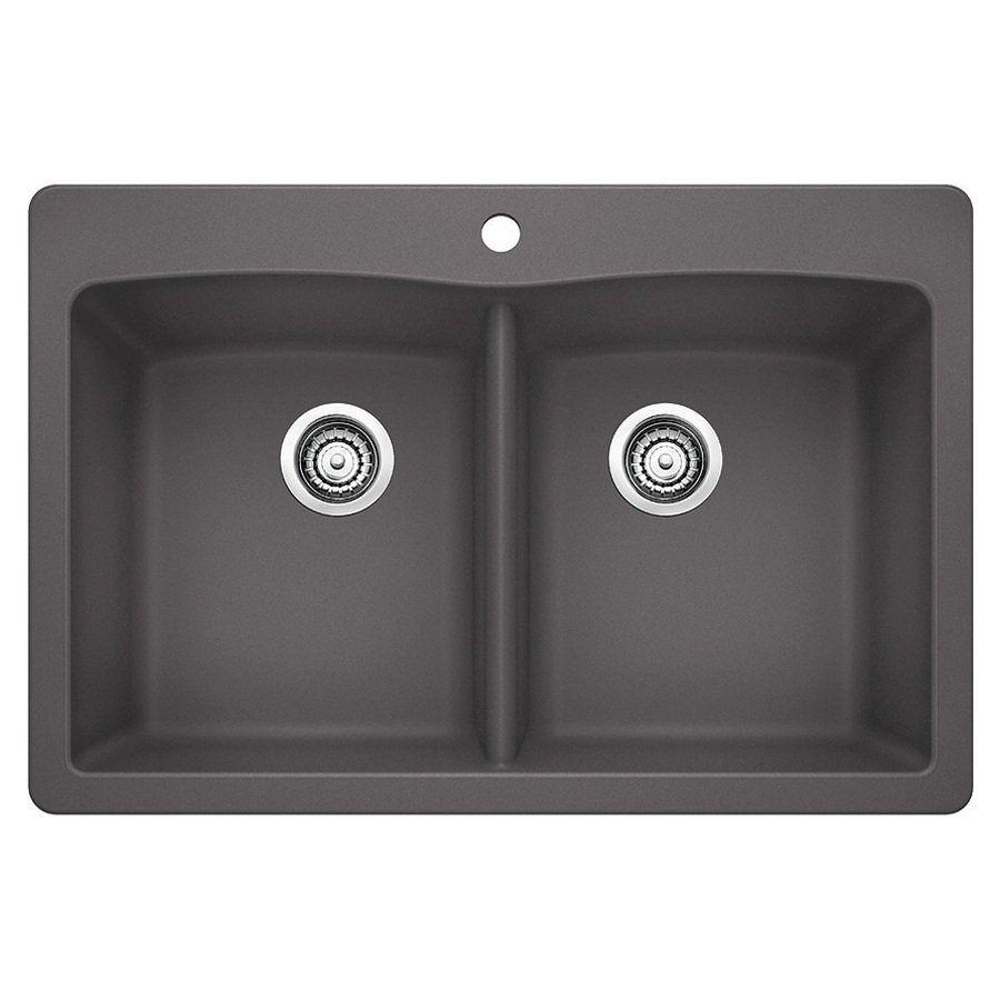 Blanco Diamond Drop In Or Undermount Granite Kitchen Sink At Lowe S