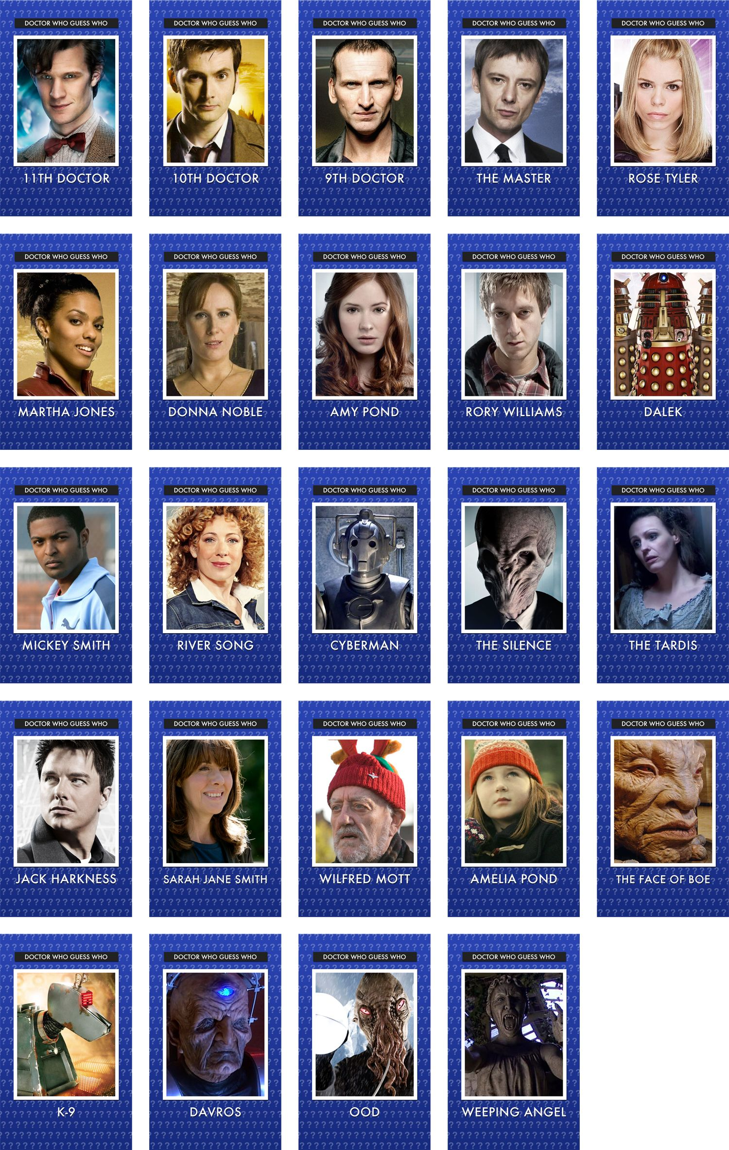 Pin On Doctor Who Guess Who Set