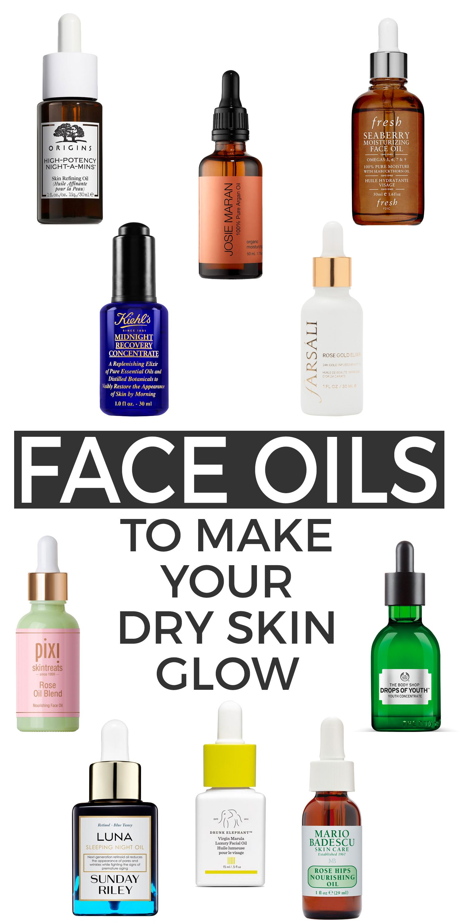 10 Oils To Make Your Dry Skin Glow Beautiful Makeup Search Serum For Dry Skin Oil For Dry Skin Dry Skin Care Routine