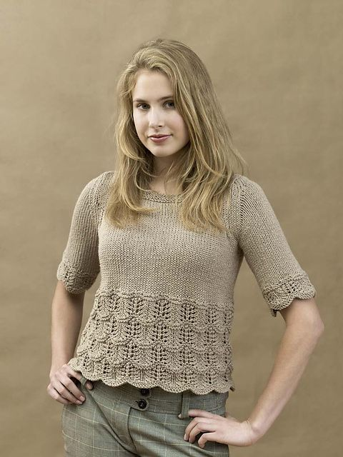 8d29b723c Ravelry  Knit Springtime Tee pattern by Melissa Leapman Free Knitting  Patterns For Women