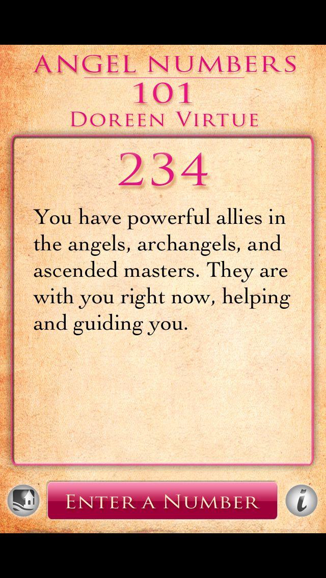 Angel Number 234 | Doreen Virtue stuff | Angel numbers