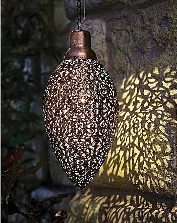 Moroccan Style Solar Lantern 31cm Solar Lanterns Solar